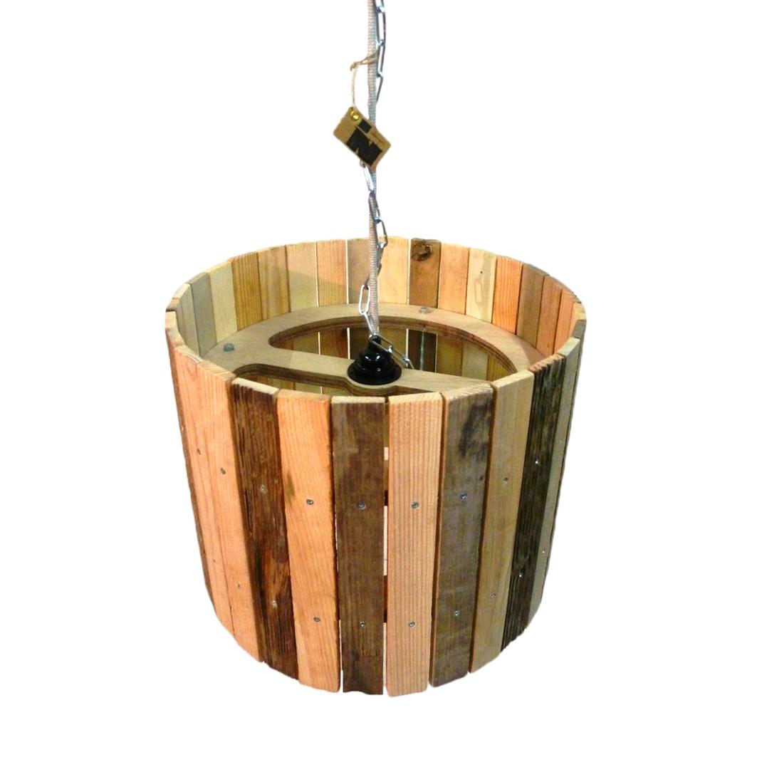 Houten design hanglampen van indusigns for Design lamp hout