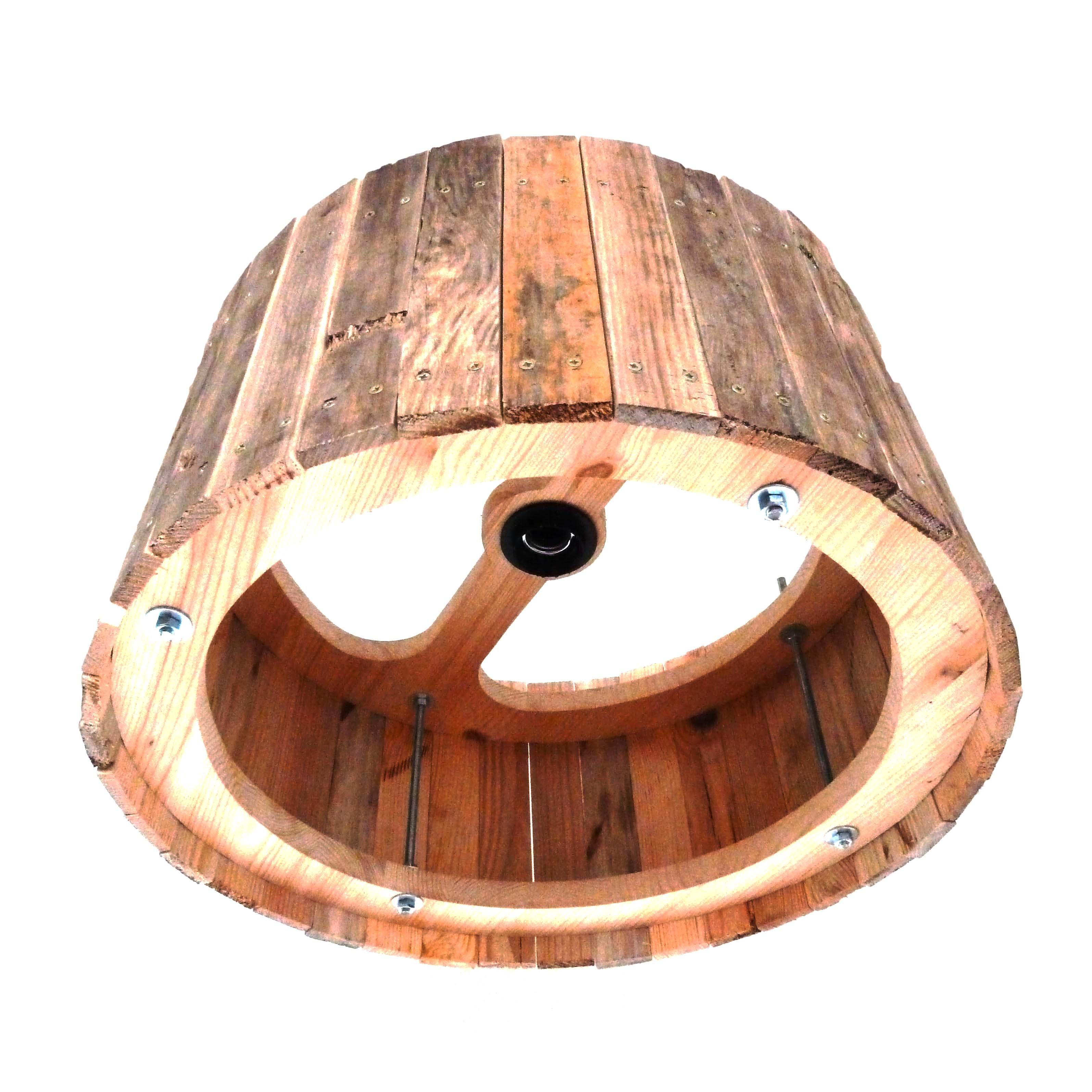 Uitgelezene Industriële Houten Hanglamp 'Wood Fellas' - Indusigns CY-15