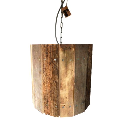 Houten Hanglamp Industrieel Upcycling Indusigns Design