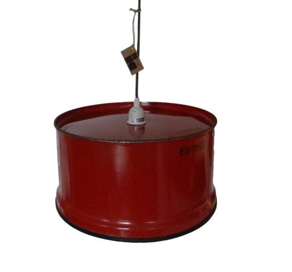 Industrieel Design Indusigns Hanglamp Rood Ribbel Onder