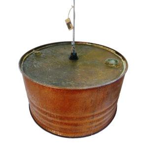 Olievat roestlamp staaldraad (2) (groot)