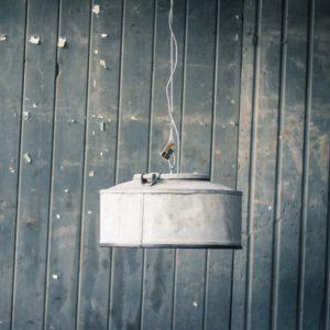 Industriële Grote Zinken Hanglamp van Indusigns