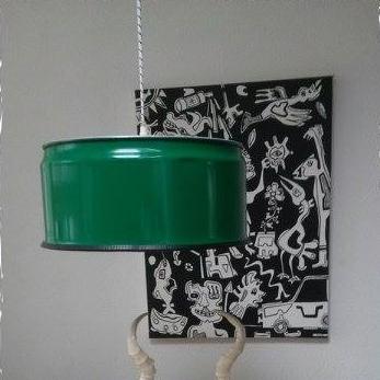 Upcycled Industriële Groene Hanglamp van Indusigns