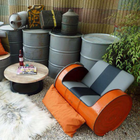 Upcycled Industriële Loungeset van Indusigns