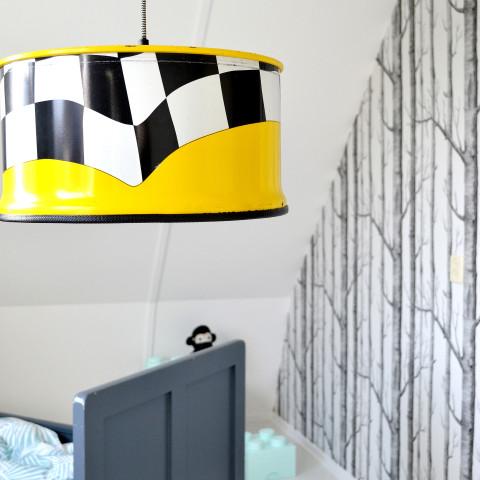 Upcycled Industriële Stoere Gele Hanglamp van Indusigns