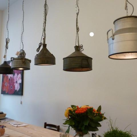 Upcycled Stoere Industriële Hanglampen Zink van Indusigns