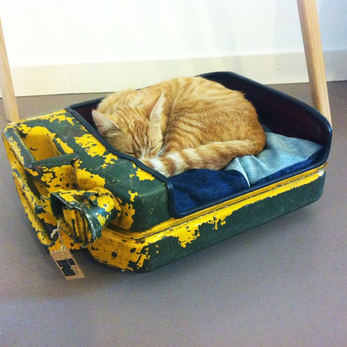 Upcycled Stoere Industriële Kattenmand van Indusigns