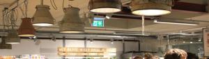 Onze hanglampen hangen inmiddels in twee vestigingen van Marqt, Amsterdam