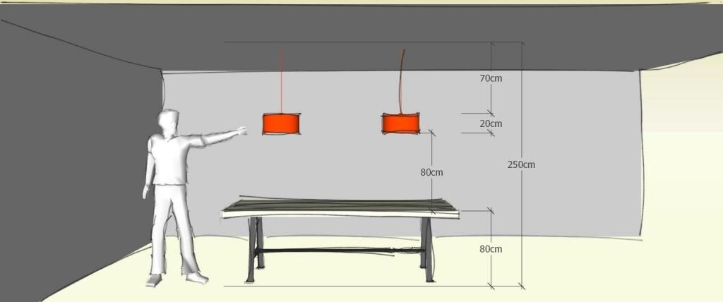 Hoe hoog hang ik mijn hanglamp?