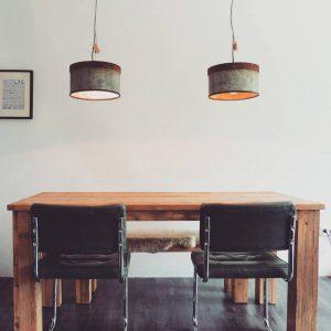 Hanglamp boven eettafel for Kleine industriele hanglamp