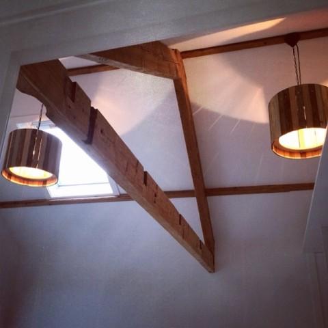 Industriële Houten Hanglampen van Indusigns