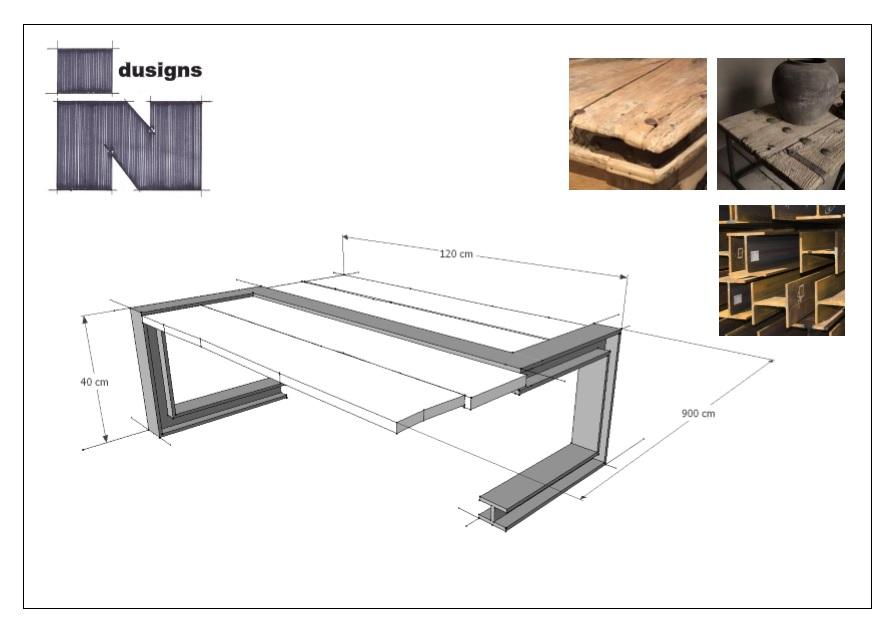 Schets ontwerp cortenstaal