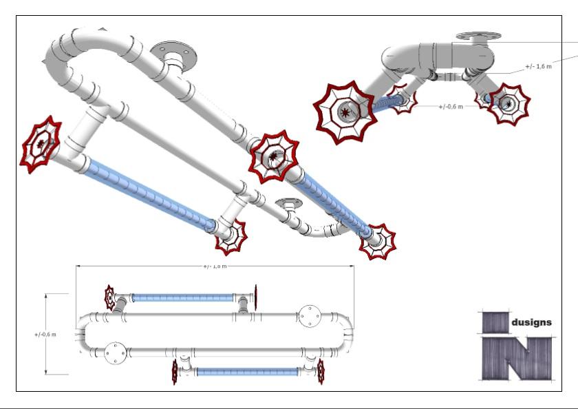 Schets ontwerp plafondconstructie