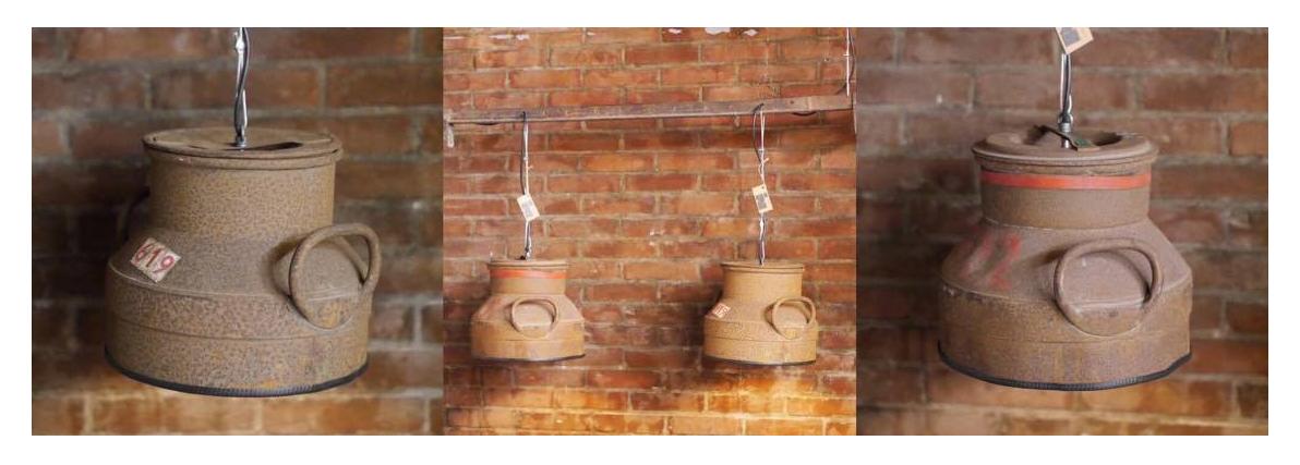 Industriële Hanglampen van Melkbussen