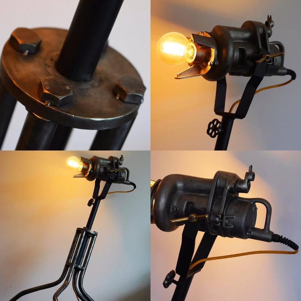 Industri le vloerlamp 39 meesterwerk 39 indusigns indusigns for Industriele vloerlamp