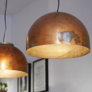 Koperen hanglampen