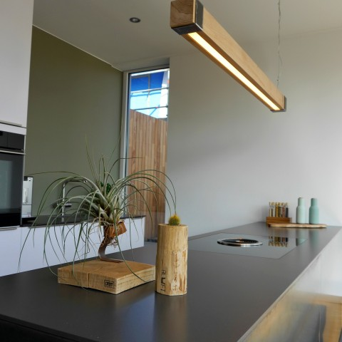 Industriële Hanglamp 'Woodlight' Indusigns Amsterdam