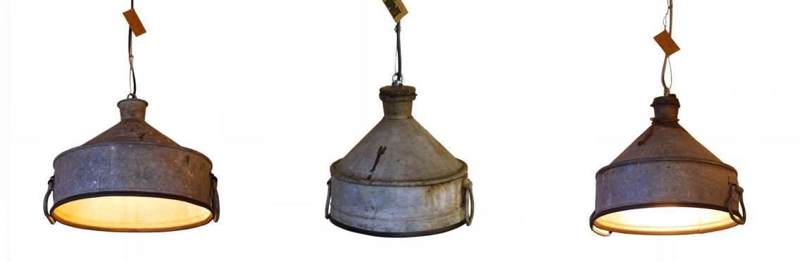 Industriële Zinken Hanglampen van Indusigns