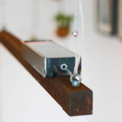 Roestige Stalen Hanglamp met LED-verlichting