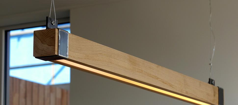 Houten Balklamp 'Woodlight' Indusigns Amsterdam