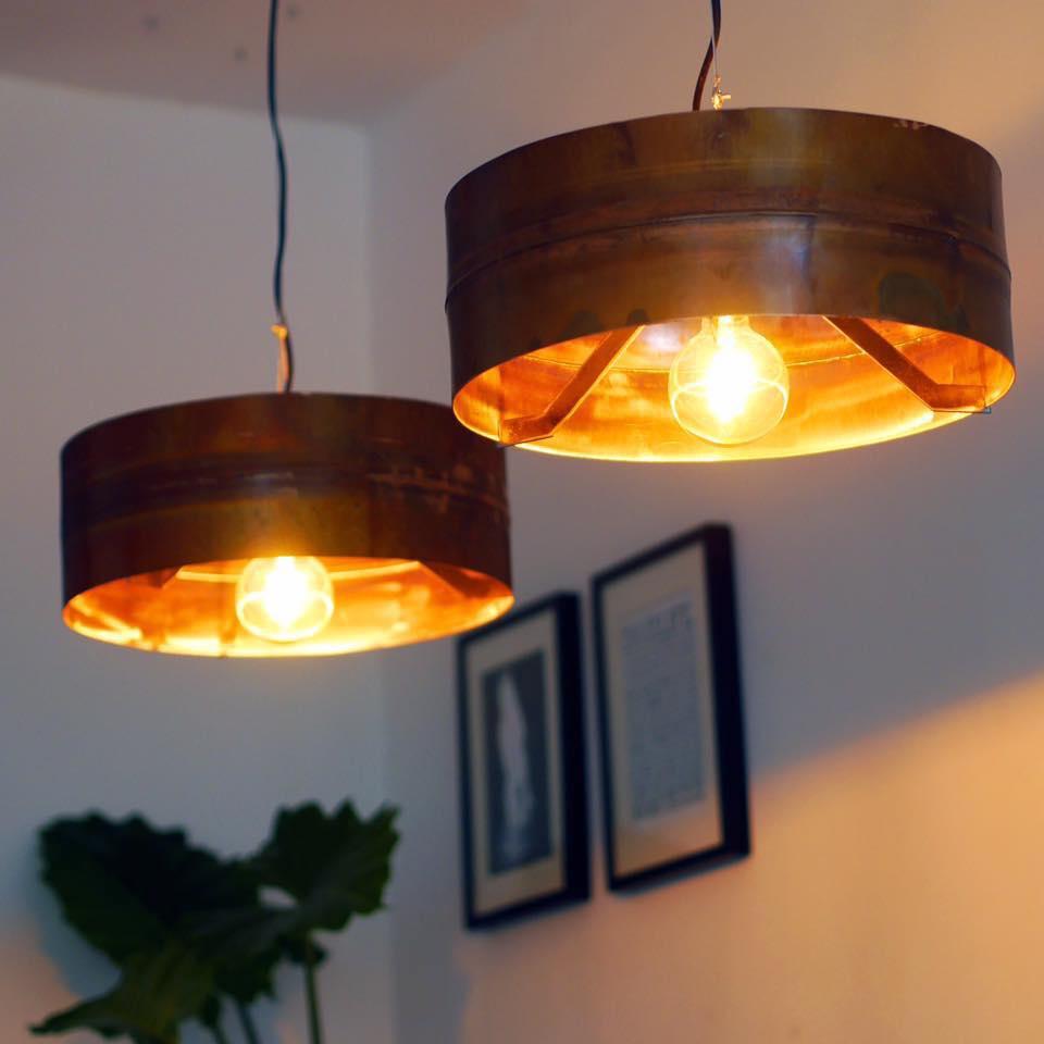 Koperen Hanglamp van Indusigns