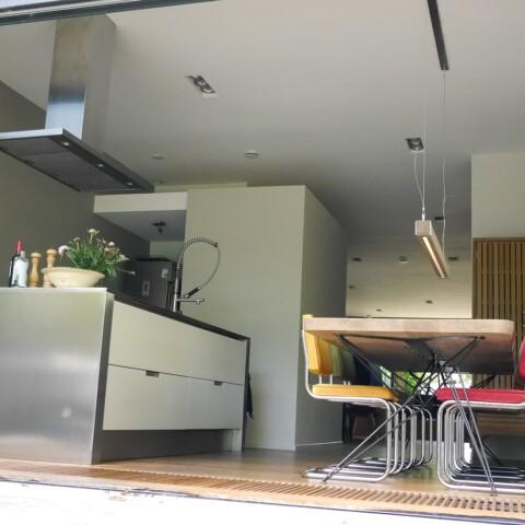 Hairpin tafelframe + Balklamp Woodlight