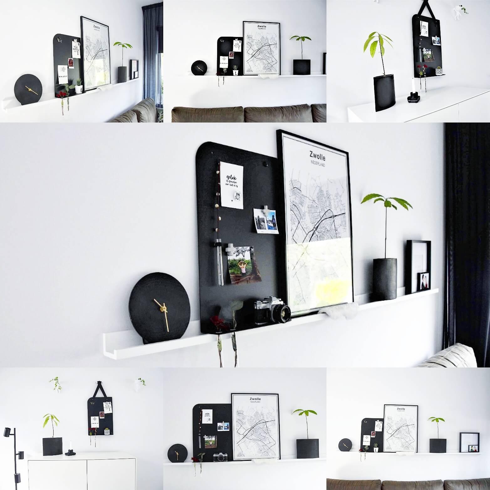 Zwart Magneetbord Voor Aan De Muur
