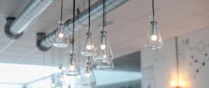 Laboratorium glas als verlichting